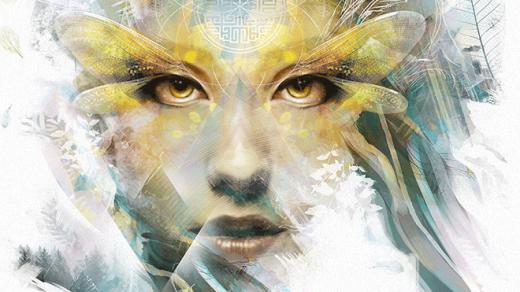 Изображение на Jeff Langevin - женско лице с мигли като водно конче